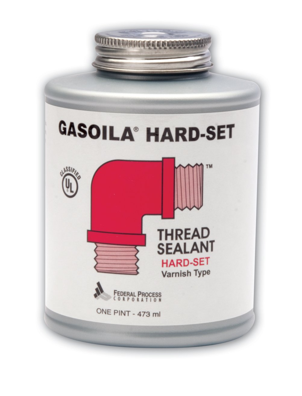 Gasoila Hard-Set Red Varnish Thread Sealant, -60 to 350 Degree F, 1/2 pint Can by Gasoila