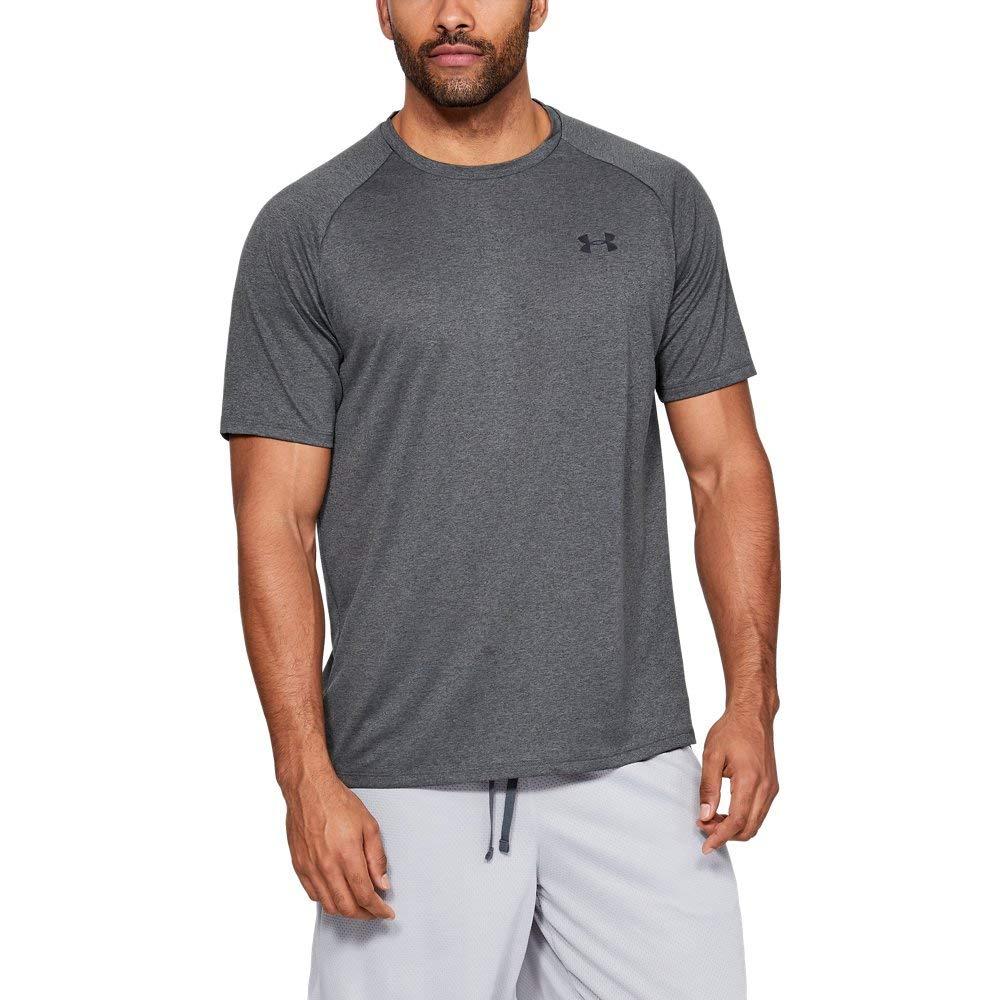 Under Armour Men's Tech 2.0 Short Sleeve T-Shirt, Carbon Heather (090)/Black, 3X-Large