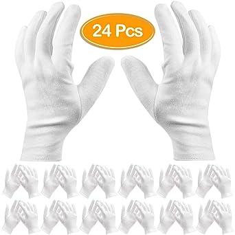pi/ù Comodi e Traspiranti(XL) 10 paia di Guanti in Cotone Bianco Guanti Cotone per Ispezione Pulizia di Monete Gioielli Guanti Bianchi