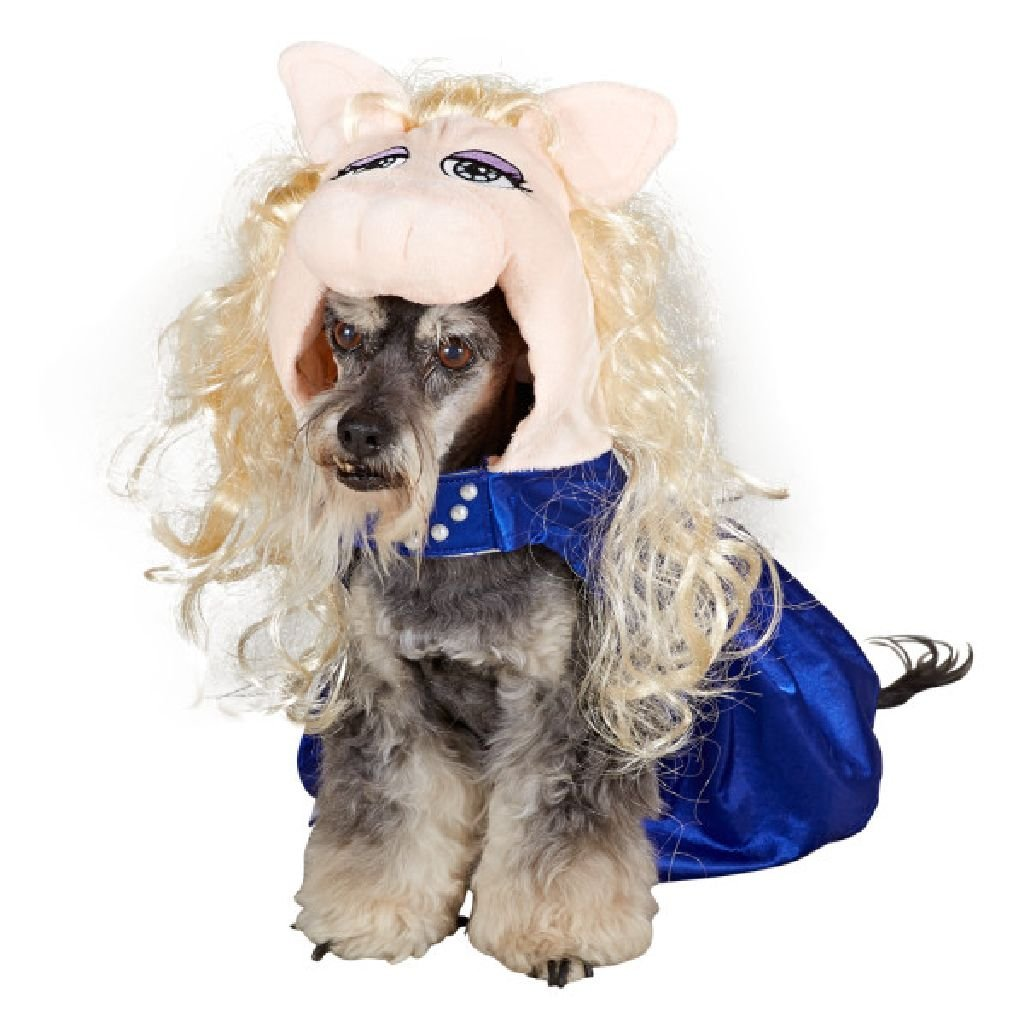 Small Disney Miss Piggy In bluee Dress Small Dog Costume