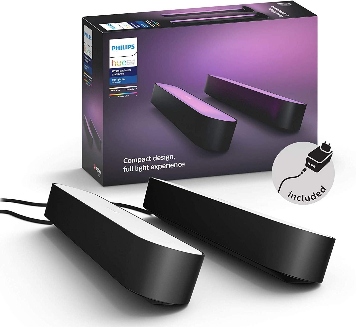 Philips Hue White and Color Ambiance Play Lightbar Doppelpack -