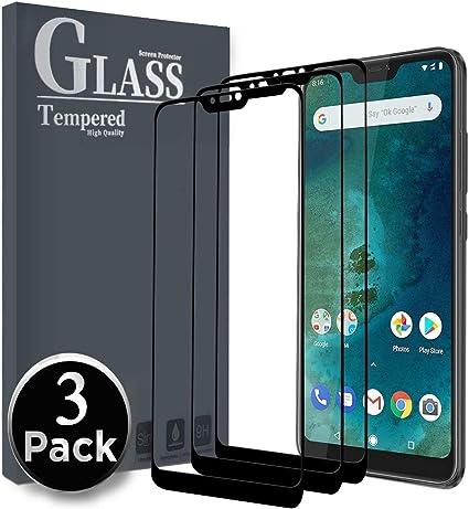 Ferilinso Cristal Templado para Xiaomi Mi A2 Lite, [3 Pack] [Cubierta Completa] Protector de Pantalla Screen Protector para Xiaomi Mi A2 Lite(Negro): Amazon.es: Electrónica