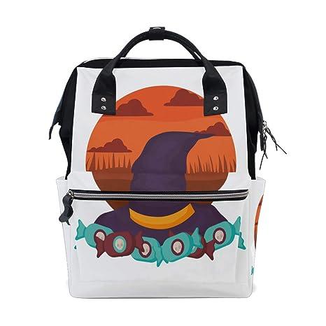 Sombrero de bruja Diseño de Halloween Bolsas de pañales de ...