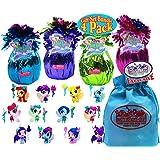 Li'l FairyLand Cuties Series 1 Fantasy Blind Bags Purple, Green, Pink & Blue Gift Set Party Bundle with Bonus Matty's Toy Stop Storage Bag - 4 Pack (Asst.)