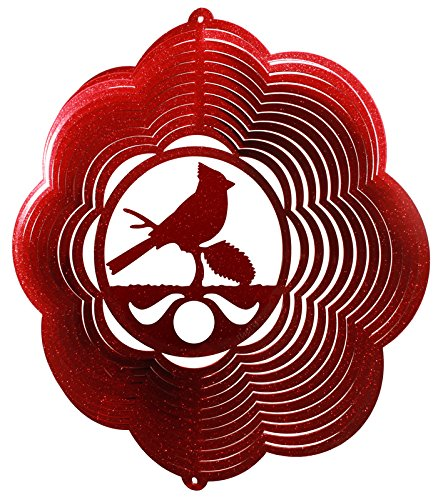- CARDINAL CLOUD Swirly Metal Wind Spinner