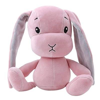 Ogquaton Conejo premium muñecas de peluche conejito para bebés, juguetes de peluche suave, regalos de cumpleaños, rosa: Bebé