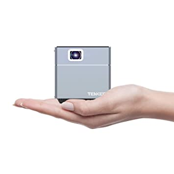 tenker Mini cubo DLP proyector con WiFi, LED de bolsillo Pico proyector portátil para interior