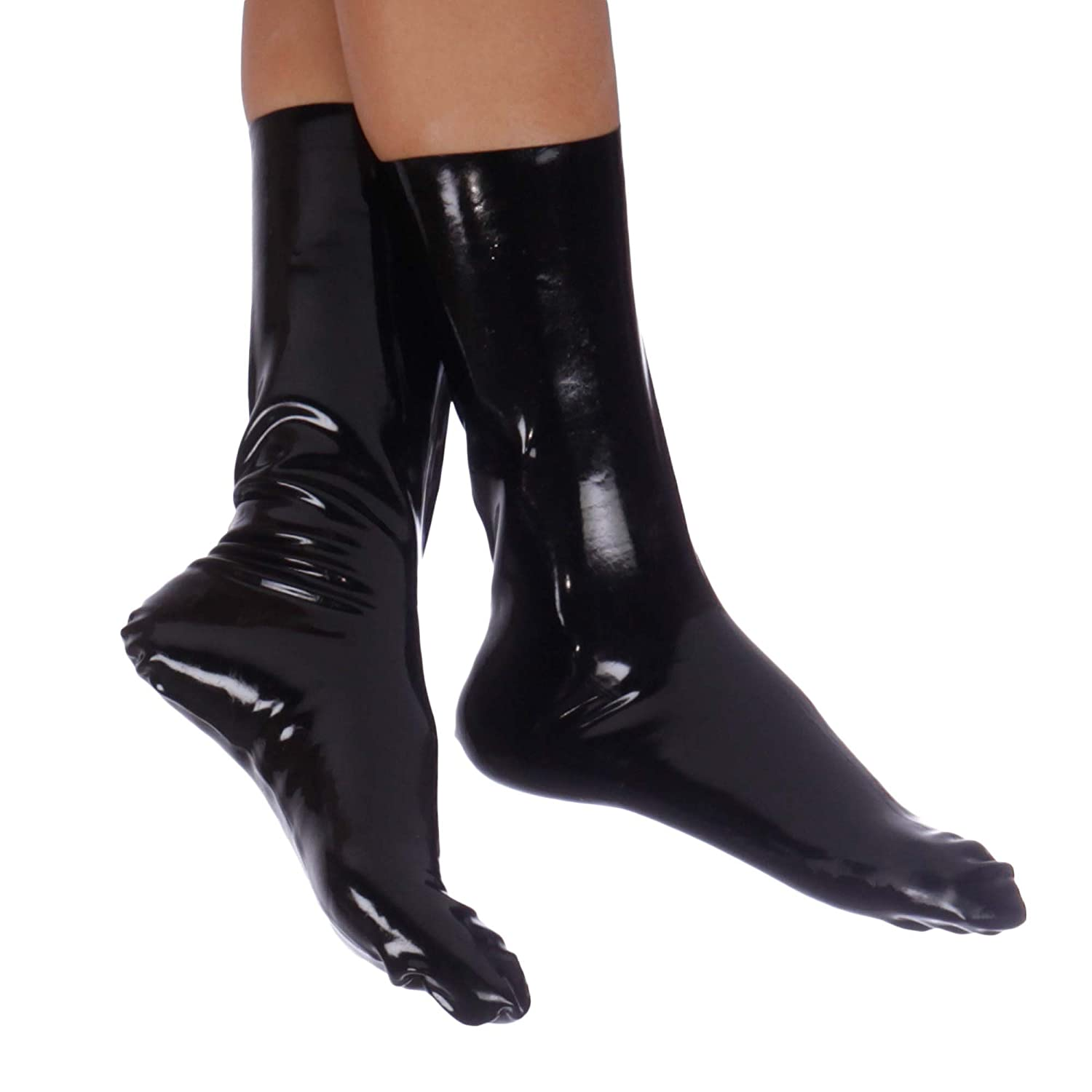 Brand New Black Latex Rubber Gummi Socks (one size) Lequida