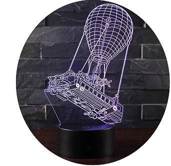 Pour Win Table Noël Y Bureau Illusion Maison D'anniversaire Lampe 3d Led Chambre Nuit 7 Couleur Décor Enfants Lumière Tactile De LMqSUVpzG