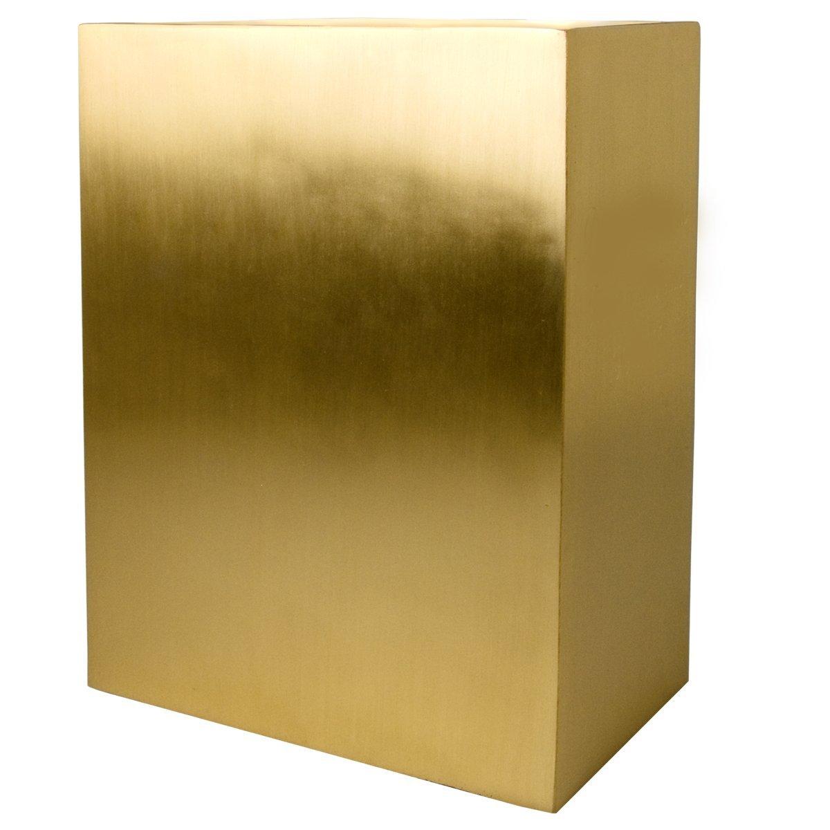 Memorial Gallery Rectangular Cremation Urns, Brushed Brass