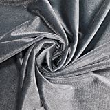 Solid Color Polyester Spandex Velvet Fabric by the Yard or Sample Swatch- Style 700 (Sample Swatch, Teal Denim)