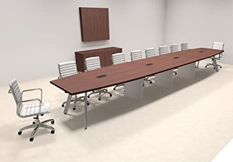Amazoncom Modern Boat Shaped Feet Conference Table OFCON - 20 foot conference table