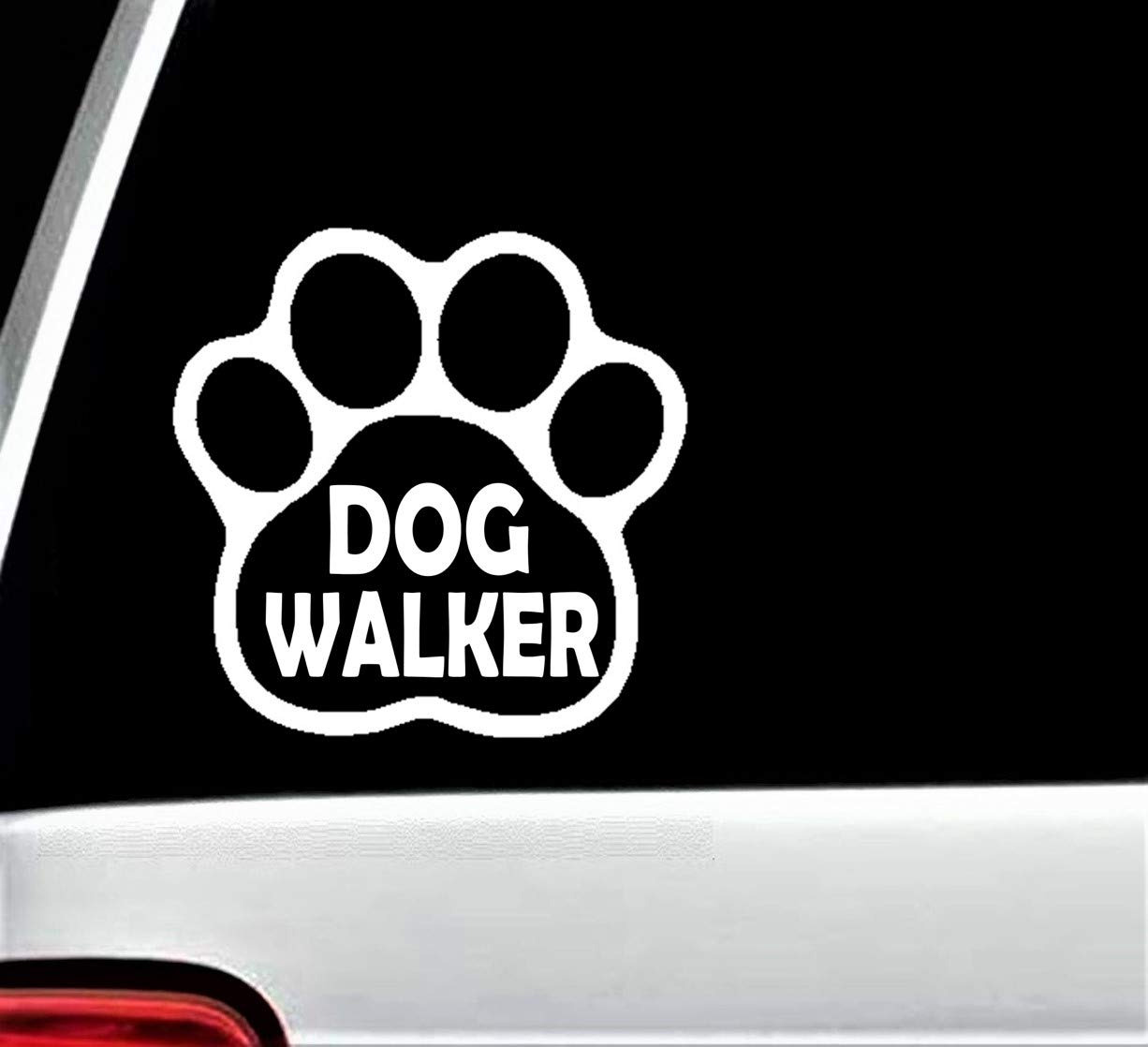 dog walking business vehicle car van vinyl cut decal advertising sticker