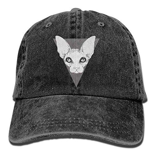 longkouishilong Gorras béisbol Sphynx Adult Denim Hat For Boy Women Unisex,Mens Female'S Sun Hat