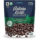 Artisan Kettle Organic No Sugar Added Dark Chocolate Chips, 9 Oz (Pack of 6)