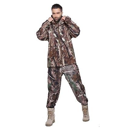 Traje de camuflaje de caza para hombre, traje táctico Pu recubierto a prueba de viento