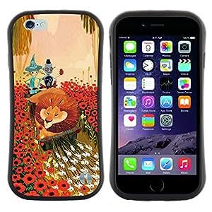 """Pulsar iFace Series Tpu silicona Carcasa Funda Case para Apple iPhone 6 / 6S (4.7 INCH) , León Flores de dibujos animados del cuento de hadas del arte Amigos"""""""