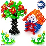 Building Flakes 500 Set - Building Toys for Kids STEM Educational Construction Fun Toys - Building Blocks for Kids 3+ - Best Toy Blocks Gift for Boys and Girls - Great Educational Toys Building Sets