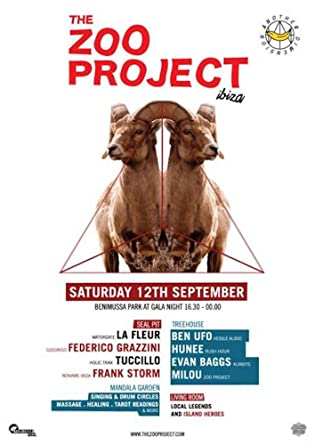 OFFICIAL Zoo Project Ibiza Club Poster Party 19th September 2015 James Priestley