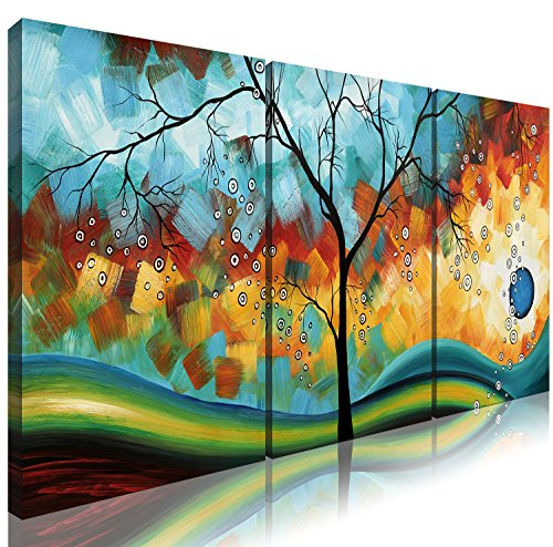 318f52d65a7 Ode-Rin Art - Modern Abstract Landscape Wall Art Tree 3 Pieces - Import It  All