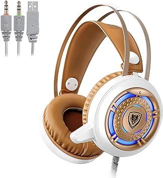 Jumor Auriculares Gaming PS4, Cascos Gaming con Micrófono ...