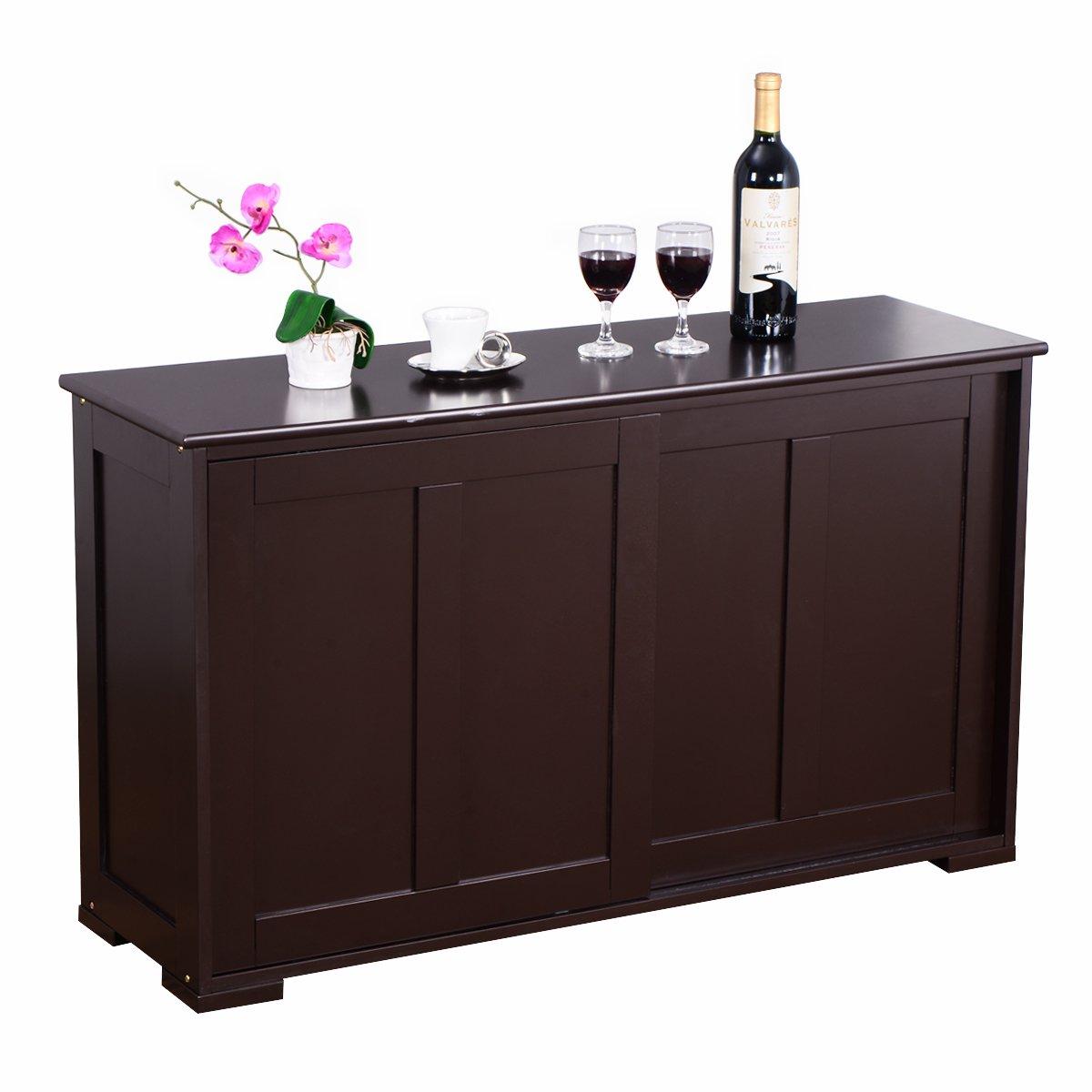 COSTWAY Sideboard Küchenschrank Badkommode Wohnzimmerregel ...