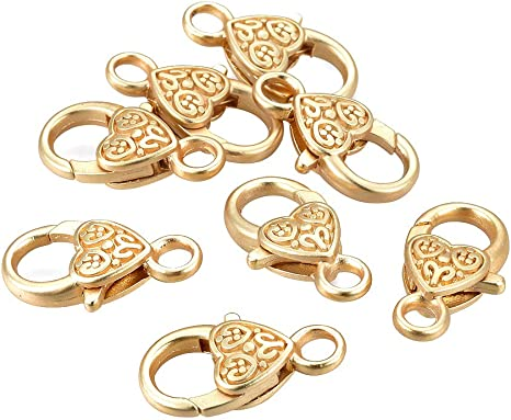 50 Pack 12mm Gold Plated Lobster Claw Clasps Hook Hooks Jewellery Findings