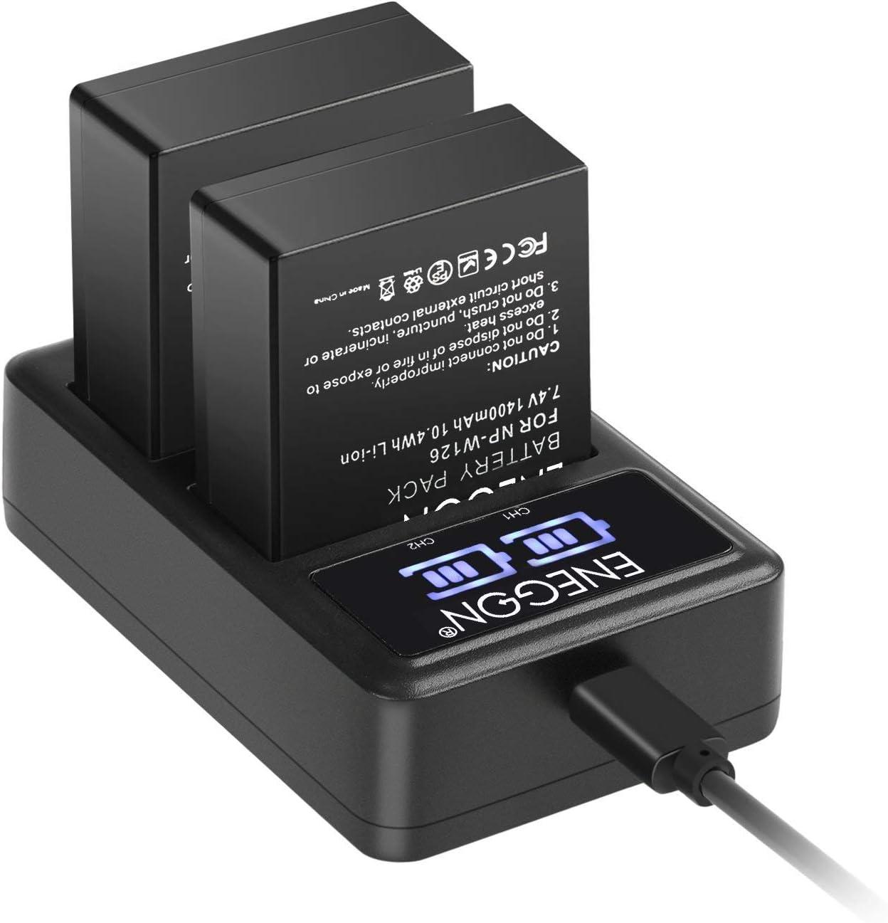 BC-W126 Cargador de batería para NP-W126 Fujifilm Finepix HS30EXR HS33EXR HS50EXR