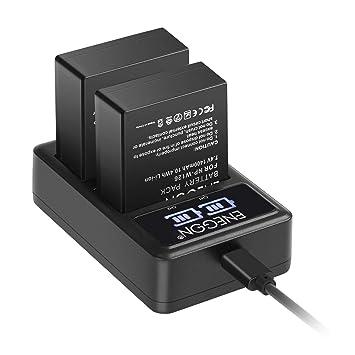 NP-W126S NP-W126 Batería de Repuesto (Paquete de 2) y Smart LED Cargador Dual USB para Fujifilm NP-W126S NP-W126 y Fuji FinePix HS30EXR HS35EXR ...