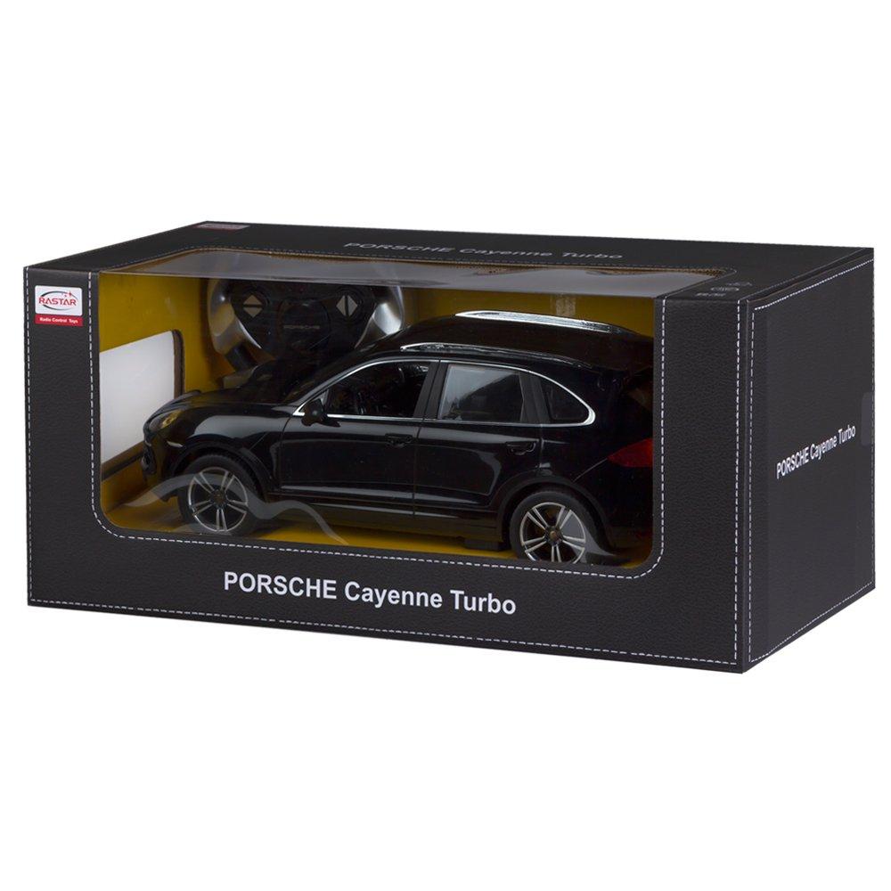 RASTAR - Coche teledirigido 1:14, Porsche Cayenne Turbo Negro (ColorBaby 85014): Amazon.es: Juguetes y juegos
