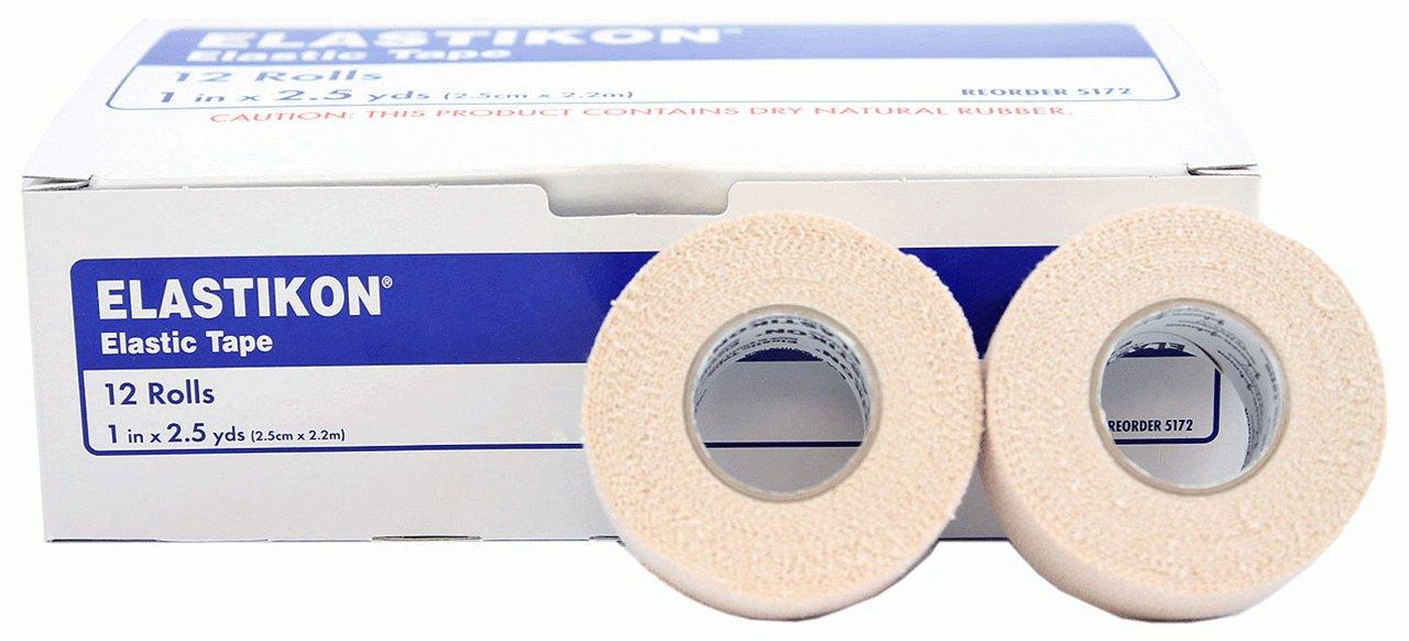 Elastikon Elastic Tape - 1'' x 2.5 yds - 2 Rolls by Johnson & Johnson