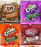 sodas crush - Kenny's Soda Bottle Gummies Variety Pack, A&W Root Beer, Dr Pepper, Grape & Orange Crush, 4.5 Oz (Pack of 4)