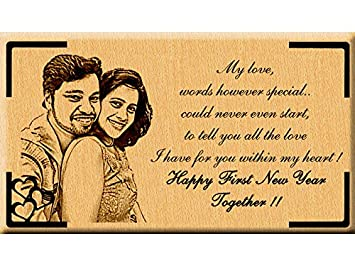 incredible gifts india happy new year gift ideas wooden photo engraved7x4 in