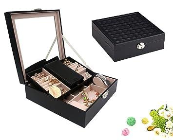 Amazoncom Wuligirl Wooden Jewelry Box Organizer Storage Showcase