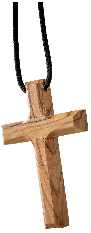 Earth Wood Rosario de Madera de Olivo con Cruz de Jerusal/én