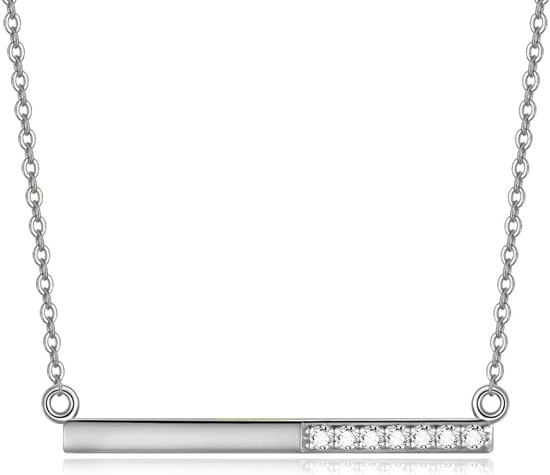 14K Gold Diamond Solitaire Pendant Necklace 0.18 Ctw Natural Floating Diamond Minimalist Necklace Elegant Gift For Women H Color VS Clarity