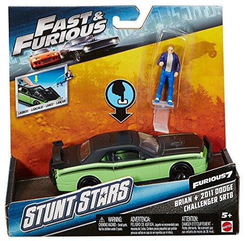 Mattel Star - Mattel Fast & Furious Stunt Stars Brian & 2011 Dodge Challenger SRT8 Vehicle