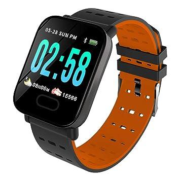 DGRTUY - Reloj Inteligente con Bluetooth y tensiómetro, Color Naranja: Amazon.es: Deportes y aire libre