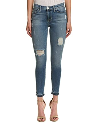 40f88a592 Image Unavailable. Image not available for. Color: Hudson Jeans Womens Nico  Ripped Decimate Wash Skinny ...