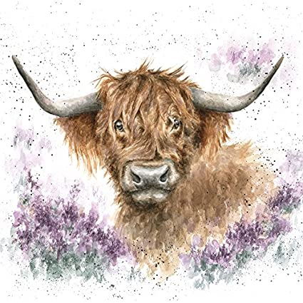 Wrendale Designs Country Set Gentle One Highland Cow Greeting Card