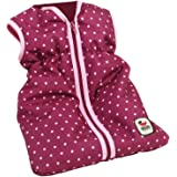 Bayer Chic 2000 792 29 - Puppen-Schlafsack, Dots Brombeere, lila/rosa