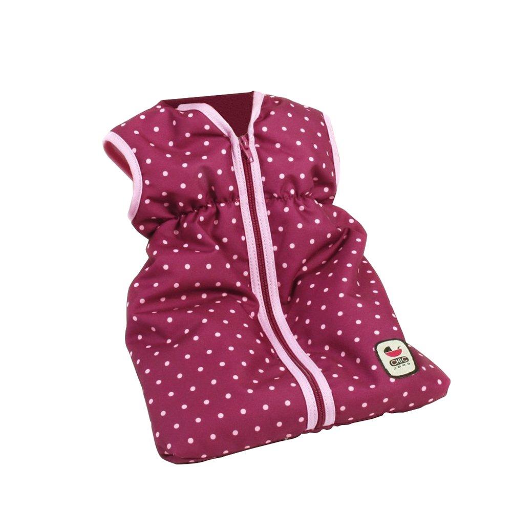 Bayer Chic 2000 792 29 - Muñecas saco de dormir, puntos de mora, violeta / rosa