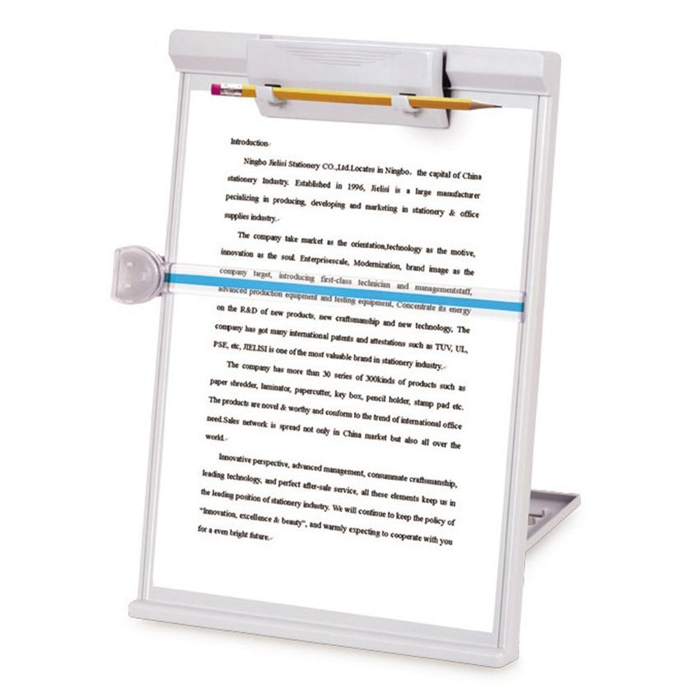 MyLifeUNIT Document Copy Holder, Copy Holder Stand, Adjustable, Gray