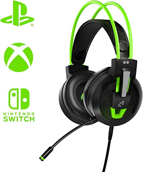 Two Dots - Casco Gaming Argon, Color Verde (Nintendo Switch ...
