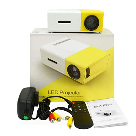 Mini proyector casero YG300 LED Proyector HDMI 320 * 240 HD 1080P ...