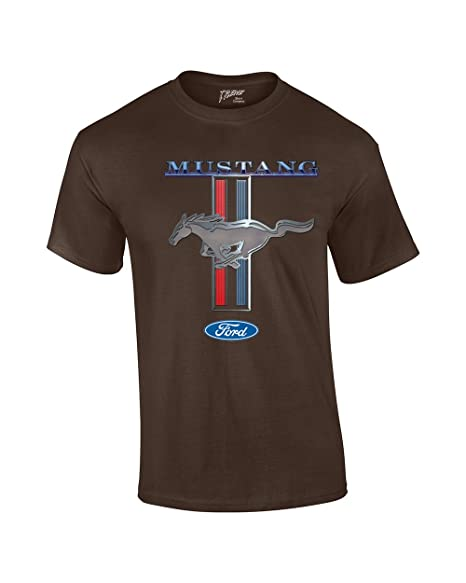 Ford Mustang T Shirt Ford Mustang Pony Stripes Amazon Com
