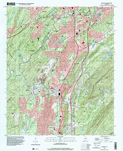 YellowMaps Helena AL topo map, 1:24000 Scale, 7.5 X 7.5 Minute, Historical, 1997, Updated 2001, 26.8 x 22 in - Polypropylene ()