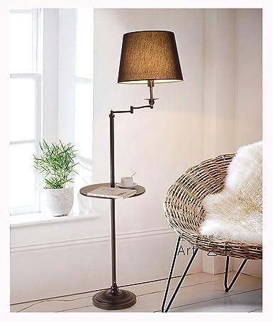 Lámpara de pie Minimalista moderna Lámpara de pie Dormitorio ...