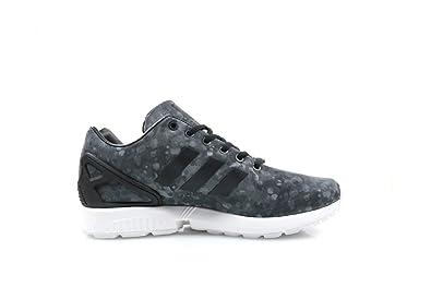 Adidas hombre 's ZX flujo blanco senderismo negro / gris