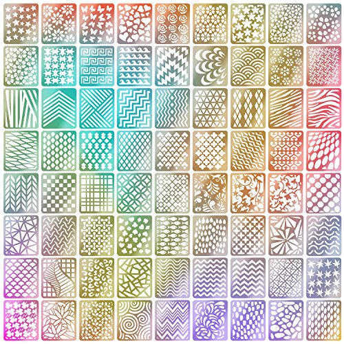 Mudder 72 Designs 144 Pieces Nail Vinyls Stencils